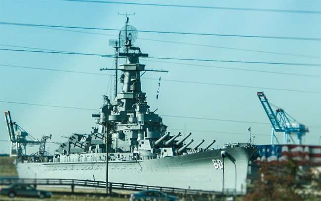 NOV 20, 2015 - USS Alabama BB-60 WWII Battleship WWII voted most popular attraction in Alabama of 2015/photonews247.com