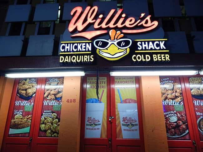 NOV 19, 2015 - Willie's Chicken Shack at dawn at 428 Canal Street, New Orleans, LA/photonews247.com