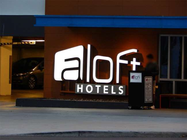 NOV 15, 2015 - aLoft Downtown Tampa Hotel with Valet Parking in downtown Tampa, FL/photonews247.com
