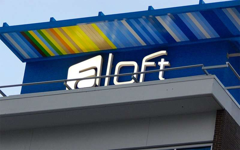 NOV 15, 2015 - aLoft sign at top of hotel in Tampa, FL/photonews247.com