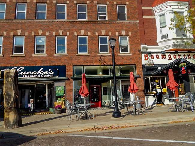 OCT 10, 2015 - Baumgartner's Cheese Store and Tavern next to Luecke's Diamond Center Incon 16th St, Monroe, WI/photonews247.com