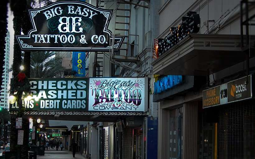 NOV 19, 2015 - Big Easy Tattoo and Company, Canal Street, New Orleans/photonews247.com