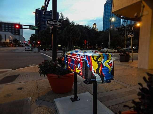 NOV 15, 2015 - ChappellRoberts, sponsors artLoud streetcar sculpture by Marie Holdaway and Jessica Kuykendall Tampa, FL/photonews247.com