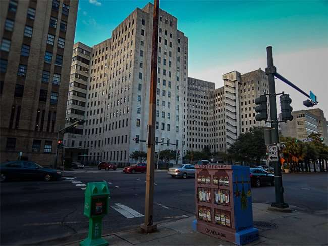 NOV 19, 2015 - Charity Hospital closed permenanlty along Tulane Ave, New Orleans, LA/photonews247.com