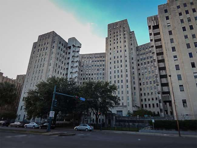 NOV 19, 2015 - Charity Hospital from South Villere in New Orleans, LA/photonews247.com