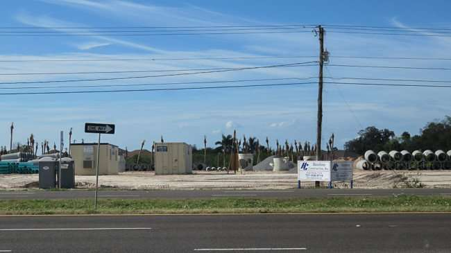 Feb 22, 2016 - Construction site of Publix along US-41 in Ruskin with big drainage pipes stacked on cleared land/photonews247.com