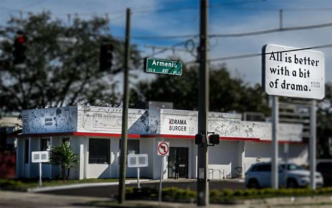 Jan 29, 2016 - Drama Burger opening on the corner of Kennedy Blvd and Armenia Avenue in South Tampa, FL/photonews247.com