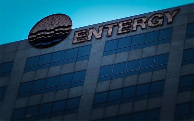 Nov 19, 2015 - Entergy logo on building New Orleans, LA/photonews247.com