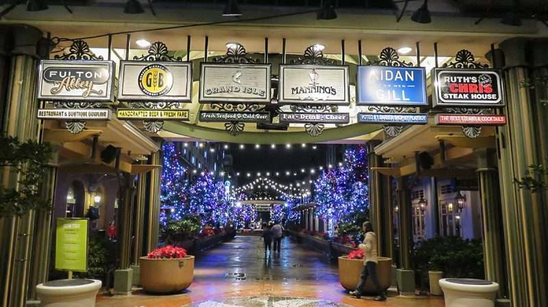 Dec 23 2015 – Fulton Street With Christmas Lights During The  - New Orleans Christmas Lights