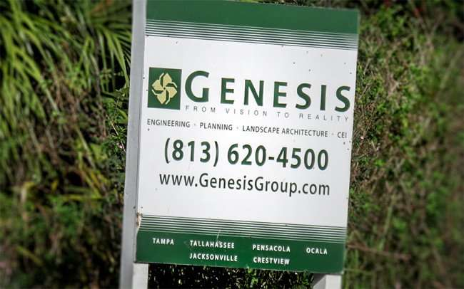 Dec 30, 2015 - Genesis Group sign a construction site of future Publix at Southshore Village Ruskin, FL/photonews247.com