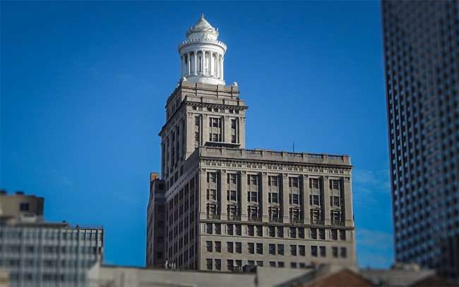 Nov 19, 2015 - Hibernia Bank Building with white round tower on top, New Orleans, LA/photonews247.com