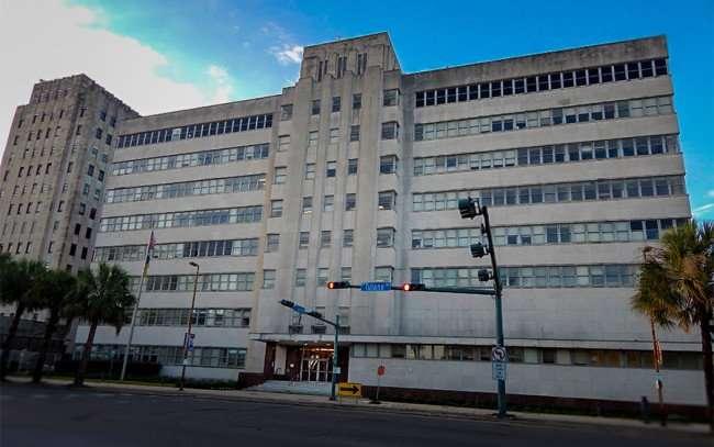 NOV 19, 2015 - LSU School Of Medicine building from corner of S Robertson St and Tulane St, New Orleans, LA/photonews247.com
