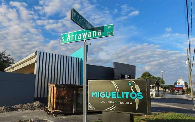 DEC 6, 2015 - Miguelito's Taqueria y Tequilas Mexican restaurant Kennedy Blvd and North Arrawana Avenue in Tampa, FL/photonews247.com
