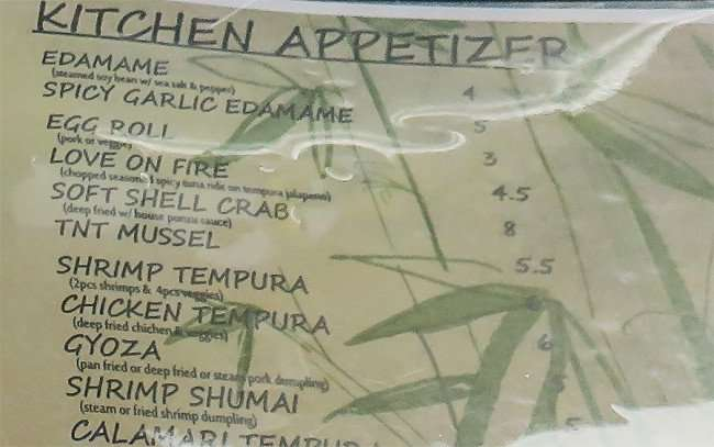 Jan 10, 2016 - Appetizer Menu at Sushi Kampai Japanese Restaurant on Bloomingdale Ave, Riverview, FL/photonews247.com
