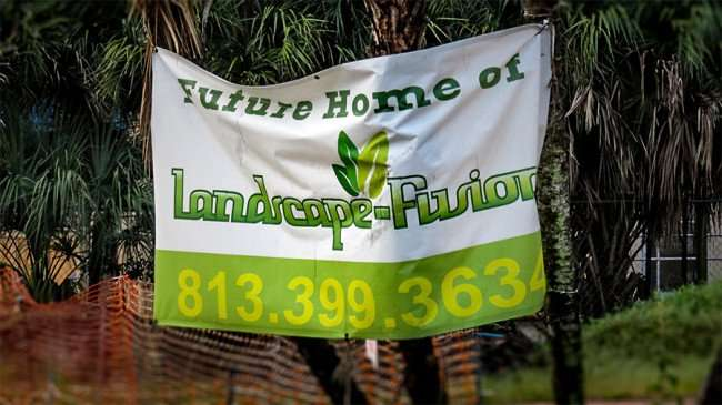 Jan 10, 2016 - Banner that reads 'Future Home of Landscape Fusion' on S Dale Mabry, Tampa, FL/photonews247.com