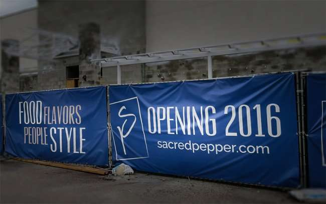 Jan 23, 2016 - Banners on The Sacred Pepper restaurant Opening 2016, Tampa, FL/photonews247.com