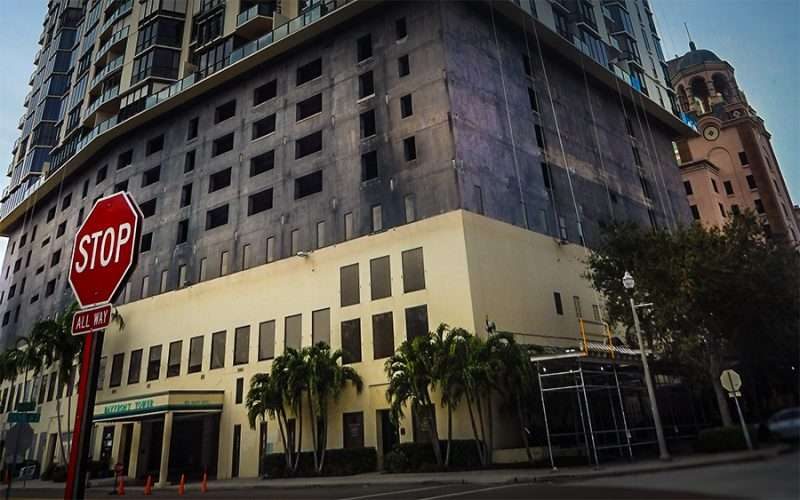 Jan 31, 2016 - Bayfront Tower undergoing renovations at the corner of One Beach Dr. & Central Ave. in downtown St Petersburg, FL/photonews247.com