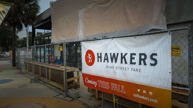 Jan 31, 2015 - Hawkers Asian Restaurant under construction in Edge District, St Pete FL/photonews247.com