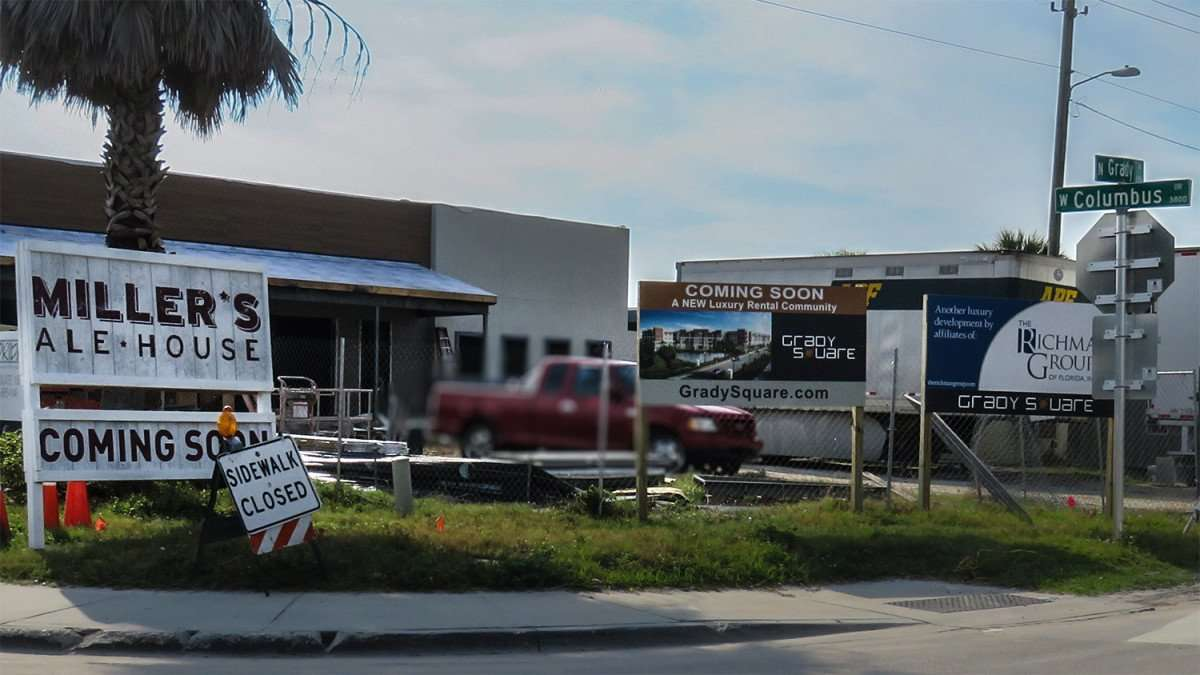Mar 27, 2016 - Miller's Ale House under construction, corner of W Columbus Drive and N Grady in Tampa FL/photonews247.com