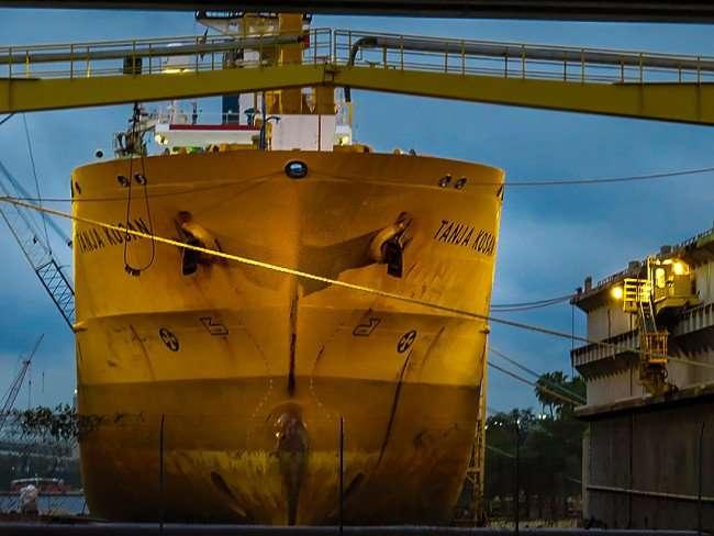 Jan 23, 2016 - Tanja Kosan British Tanker on Port of Tampa, Channelside, Tampa, FL/photonews247.com