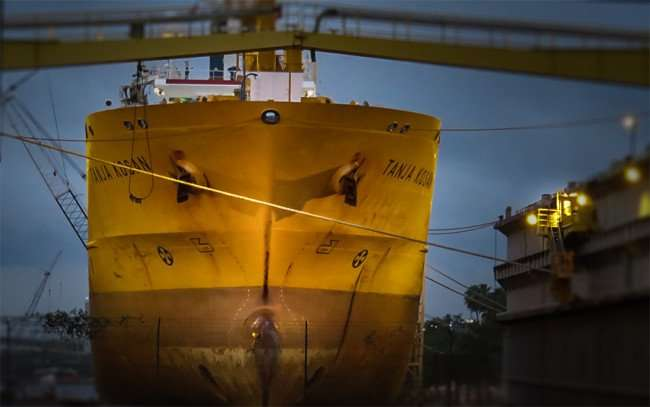 Jan 23, 2016 - Tanja Kosan British UK tanker at Port of Tampa in the Channel District neighborhood/photonews247.com