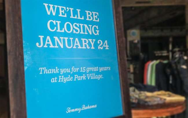 Jan 23, 2016 - Tommy Bahamas women's and men's island and beach clothing store closes its doors, Hyde Park Village, Tampa, FL/photonews247.com