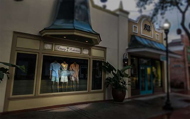 Jan 23, 2016 - Tommy Bahama's store front window dressings with store closing Jan 24, 2016, Hyde Park Village, Tampa, FL/photonews247.com