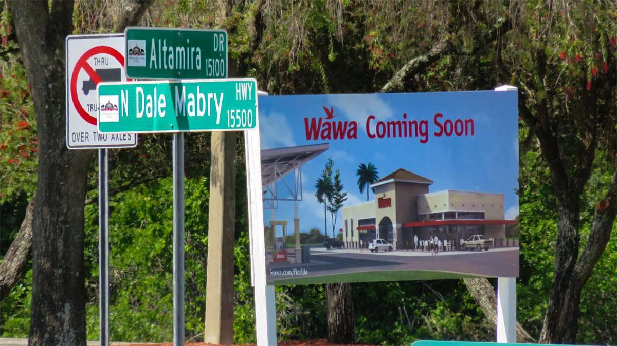 April 10, 2016 - Wawa coming soon to corner of Altamira Dr and N Dale Mabry Hwy, Carrollwood Tampa, FL/photonews247.com