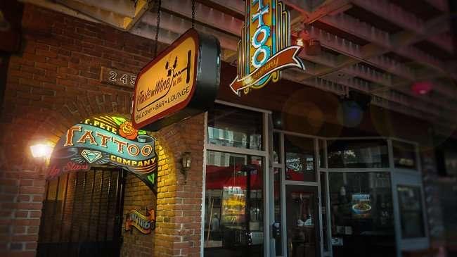 Feb 21, 2016 - A Taste of Wine Balcony Bar Lounge and St Pete Tattoo Company, 2nd Floor, St Petersburg, FL/photonews247.com