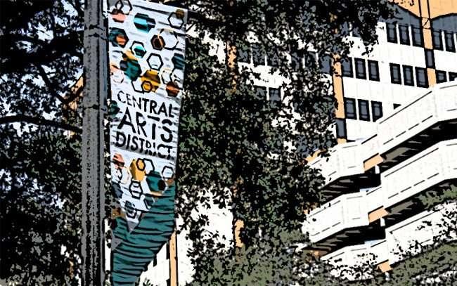 Jan 31, 2016 - Banner on pole CENTRAL ARTS DISTRICT along Center Ave, St Petersburg, FL/photonews247.com