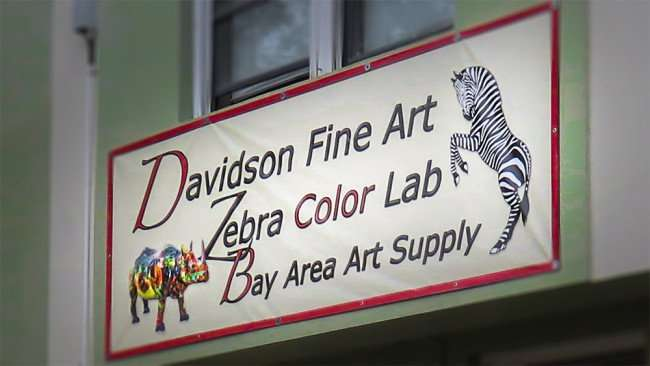 Jan 31, 2016 - Davidson Fine Art, Zebra Color Lab , Bay Area Art Supply, Grand Central District, St Pete/photonews247.com