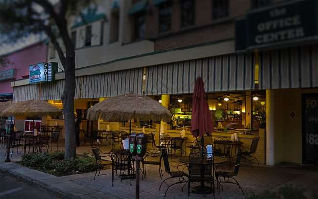 Jan 31, 2016 - Dome Grill outside sidewalk dining area, Central Ave, St Petersburg, FL/photonews247.com