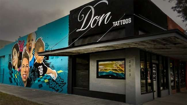 Jan 31, 2016 - Evil Don Tattoos in Grand Central District, St Petersburg, FL/photonews247.com