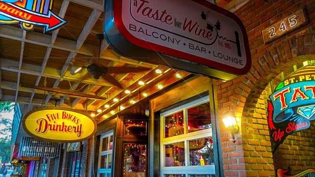 Feb 21, 2016 - Five Bucks Drinkery, Taste of Wine Balcony Bar, St Pete Tattoo Co, Jannus Landing, St Petersburg, FL/photonews247.com