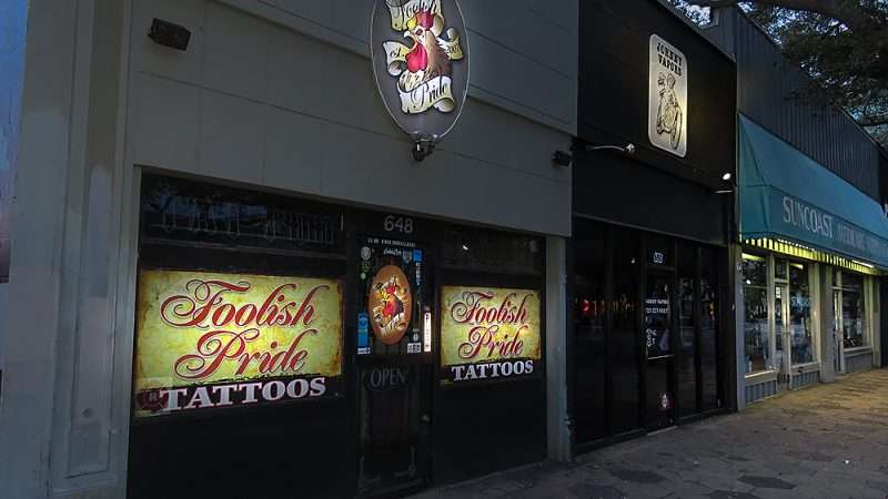 Jan 31, 2016 - Foolish Pride Tattoos building 648 Central Ave, St Petes, FL/photonews247.com