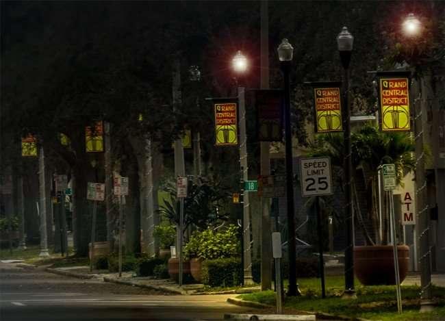 Jan 31, 2016 - Grand Central District banners along Central Ave, St Pete, FL/photonews247.com