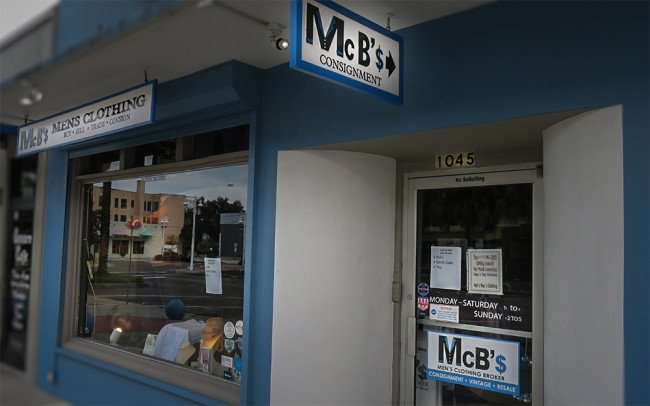 Jan 31, 2016 0 McB's mens clothing consignment resale shop on Central Avenue in the Edge, District of Sts Petersburg, FL/photonews247.com