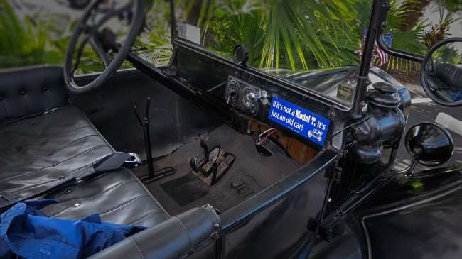 "Feb 22, 2016 - Model T dash board with sticker that reads, ""If its not a Model T, it's just an old car""/photonews247.com"