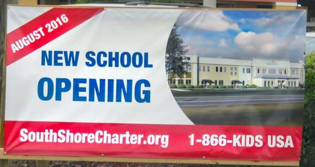 May 4, 2016 - South Shore Charter Academy opens in August. Banner located on 301 and Big Bend Rd/photonews247..com