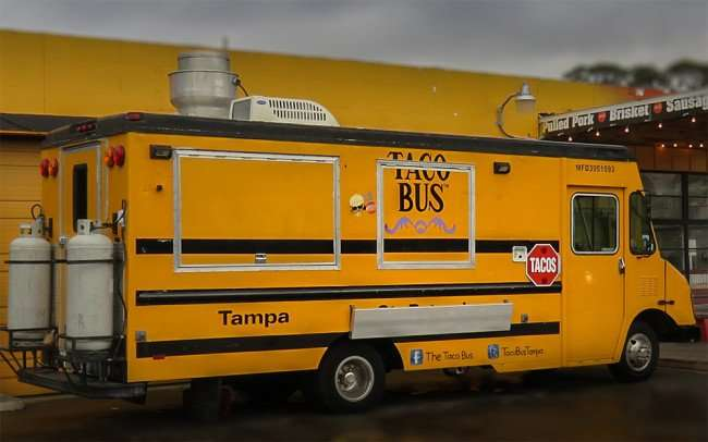 Jan 23, 2016 - Taco Bus parked at corner of W Azeele St and South Howard, Tampa, FL/photonews247.com