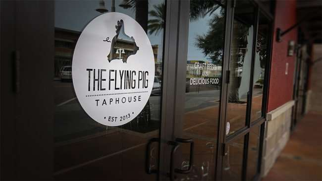 Jan 31, 2016 - The Flying Pig Taphouse front doors Est. 2013, St Pete/photonews247.com