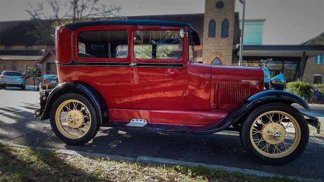 Mar 6 - 2016 - 1929 Model A Ford parked at Church in St. Petersburg, FL/photoews247.com