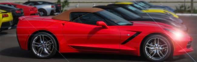 Mar 17, 2016 - 2016 red Corvette lined up with other Corvettes at Ferman Chevrolet in Brandon, FL/photonews247.com