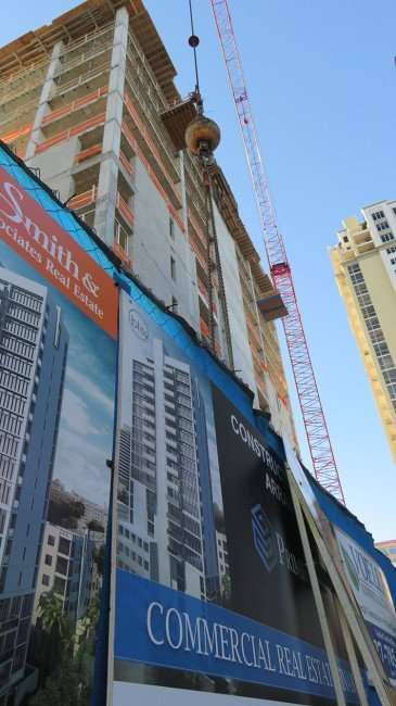 Feb 21, 2016 - Bliss Condo tower construction site with Parkshore Plaza to the righ St. Petersburg, FL/photonews247.com