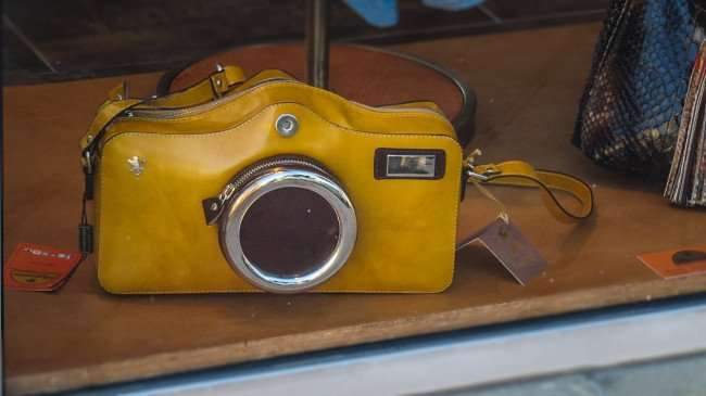 Mar 6, 2016 - Camera Purse from Eleganza Leather store, St Petersburg, FL/photonews247.com