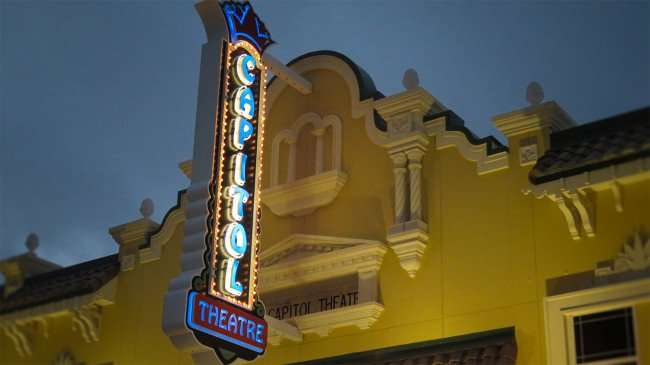 Mar 13, 2016 - Capital Theatre sign light up in Clearwater, FLorida/photonews247.com