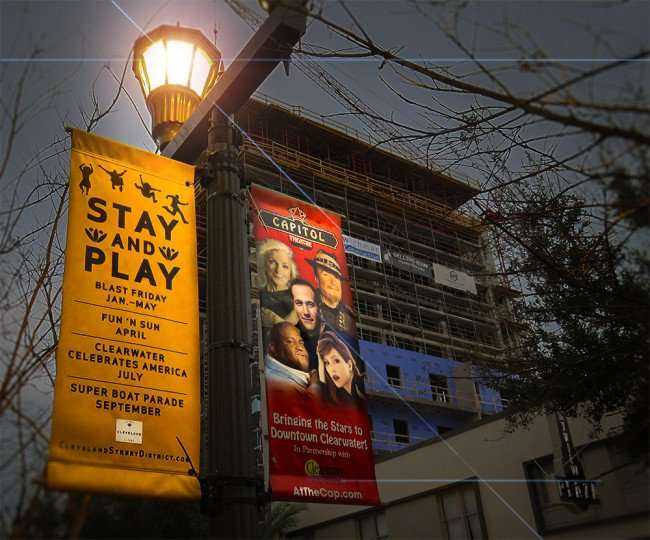 Mar 13, 2016 - Capitol Theatre sign light up in Clearwater, FLorida/photonews247.com