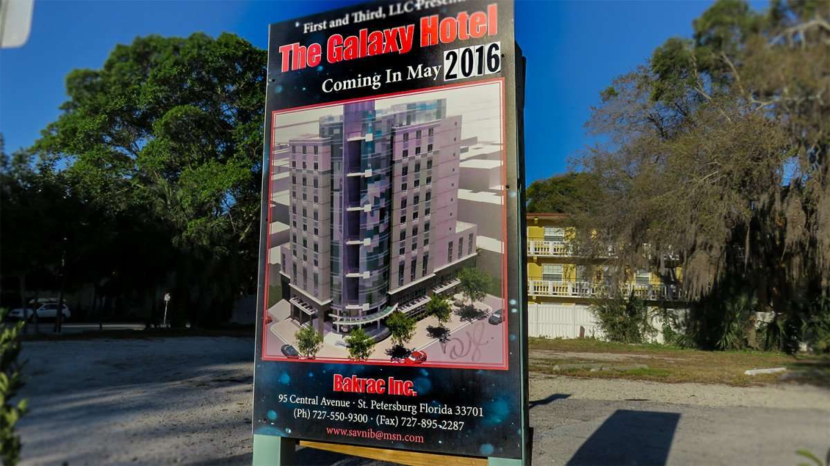 Mar 6, 2016 - Galaxy Hotel coming to 1st and 3rd in St Pete, FL/photonews247.com