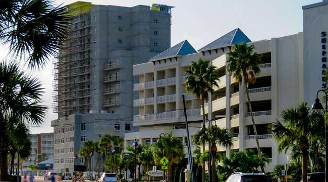 Mar 13, 2016 - Hampton Inn under construction in Clearwater Beach next to Shephard's Resort/photonews247.com