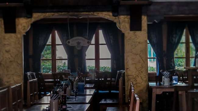 Jan 31, 2016 - Hofbräuhaus German Restaurant wooden tables and chairs in St Pete, FL/photonews247.com